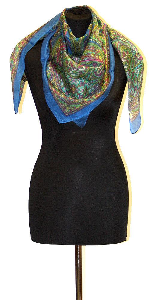 Indický šátek 100% hedvábí blankytně modrý st830 2c0bd6d6cb