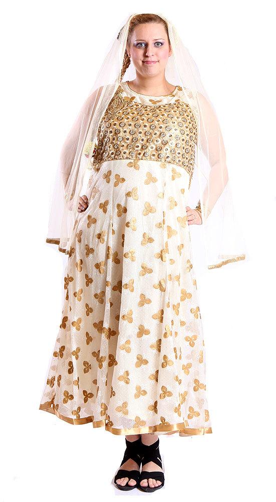 Ganga - DÁMSKÉ - ŠATY - Svatební indické šaty XL sty386 acd53ea23a1
