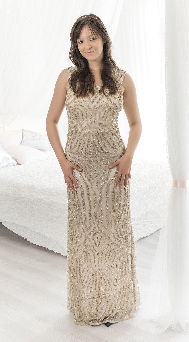 3ecfddaa1f6 Ganga - DÁMSKÉ - LUXUSNÍ ŠATY - Pohádkové svatební šaty L db1026