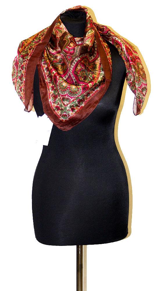 28c183c55dc Indický šátek 100% hedvábí čokoládový st926